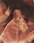 TIZIANO Vecellio Pope Paul III with his Nephews Alessandro and Ottavio Farnese (detail) art oil painting picture wholesale
