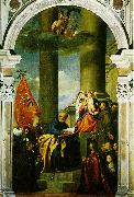 TIZIANO Vecellio Madonna with Saints and Members of the Pesaro Family  r oil painting picture wholesale