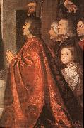 TIZIANO Vecellio Madonna with Saints and Members of the Pesaro Family (detail) wt oil painting picture wholesale