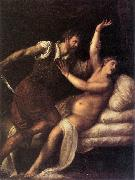 TIZIANO Vecellio Tarquin and Lucretia  aet oil painting picture wholesale