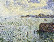 Theo Van Rysselberghe Sailboats and Estuary oil painting picture wholesale
