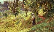 Theodore Clement Steele Berry Picker oil painting artist