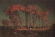 Theodore Rousseau Under the Birches oil painting picture wholesale