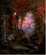 Thomas Moran Autumnal Woods oil painting artist
