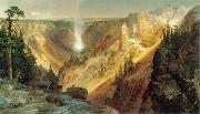 Thomas Moran Grand Canyon of the Yellowstone oil painting artist