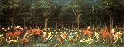 UCCELLO, Paolo The Hunt in the Forest aer oil painting picture wholesale