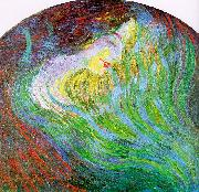 Umberto Boccioni Study of a Female Face oil painting artist