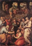 VASARI, Giorgio The Prophet Elisha er France oil painting reproduction
