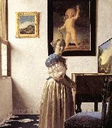 VERMEER VAN DELFT, Jan Lady Standing at a Virginal er oil painting picture wholesale
