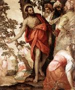 VERONESE (Paolo Caliari) St John the Baptist Preaching  wr oil painting artist