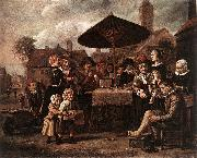 VICTORS, Jan Market Scene with a Quack at his Stall er oil painting picture wholesale
