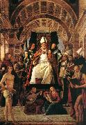 VIVARINI, family of painters Altarpiece of St Ambrose er oil painting picture wholesale