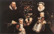 VOS, Marten de Portrait of Antonius Anselmus, His Wife and Their Children wr oil painting artist
