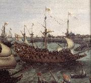VROOM, Hendrick Cornelisz. The Arrival at Vlissingen of the Elector Palatinate Frederick V (detail) ar oil painting