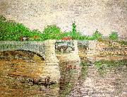 Vincent Van Gogh The Seine with the Pont de la Grand Jatte oil painting picture wholesale