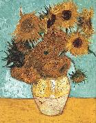 Vincent Van Gogh Vase with Twelve Sunflowers oil painting picture wholesale