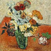 Vincent Van Gogh Japanese Vase with Roses and Anemones oil painting picture wholesale