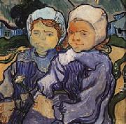 Vincent Van Gogh Two Little Girls oil painting picture wholesale