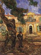 Vincent Van Gogh Tree and Man(in Front of the Asylum of Saint-Paul,St.Remy) oil painting picture wholesale