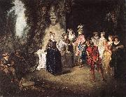 WATTEAU, Antoine The French Comedy oil painting artist