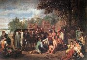 WEST, Benjamin The Treaty of Penn with the Indians. oil painting artist