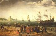 WILLAERTS, Adam Coastal Landscape with Ships oil painting picture wholesale