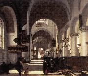 WITTE, Emanuel de Interior of a Church oil painting picture wholesale