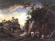 WOUWERMAN, Philips Rocky Landscape with resting Travellers qr oil painting picture wholesale