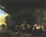 WOUWERMAN, Philips Scene in front of an Inn wet oil painting picture wholesale