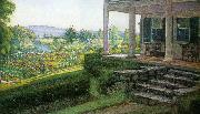 Walter I Cox The Front Porch oil painting picture wholesale