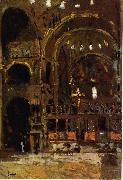 Walter Sickert Interior of St Mark's, Venice oil painting picture wholesale