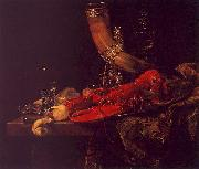Willem Kalf Still Life with Lobster, Drinking Horn and Glasses oil painting picture wholesale