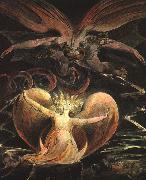 William Blake The Great Red Dragon and the Woman Clothed with the Sun France oil painting reproduction