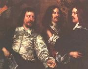 William Dobson The Artist, Sir Charles Cotterell and Balthasar Gerbier oil painting artist