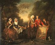 William Hogarth The Fountaine Family oil painting picture wholesale