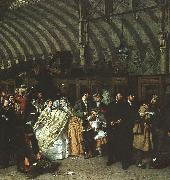 William Powell  Frith The Railway Station oil painting artist