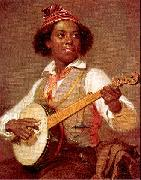 William Sidney Mount Banjo Player oil painting picture wholesale