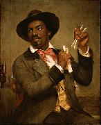 William Sidney Mount The Bone Player oil painting picture wholesale