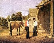William Sidney Mount horse dealers oil painting artist