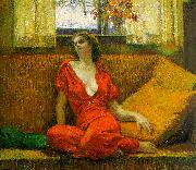 Wilson Irvine Lady in Red oil painting picture wholesale