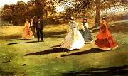 Winslow Homer Croquet Players oil painting picture wholesale