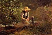 Winslow Homer The Whittling Boy oil painting picture wholesale