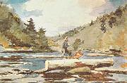 Winslow Homer Hudson River, Logging oil painting picture wholesale