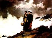 Winslow Homer Watching the Breakers oil painting picture wholesale