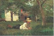 Winslow Homer Nooning oil painting picture wholesale