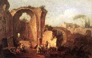 ZAIS, Giuseppe Landscape with Ruins and Archway oil painting artist