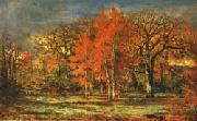 charles le roux Edge of the Woods;Cherry Trees in Autumn oil painting picture wholesale