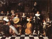 MOLENAER, Jan Miense Family Making Music ag oil painting artist