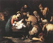 MURILLO, Bartolome Esteban Adoration of the Shepherds zg oil