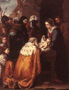 MURILLO, Bartolome Esteban Adoration of the Magi sg oil